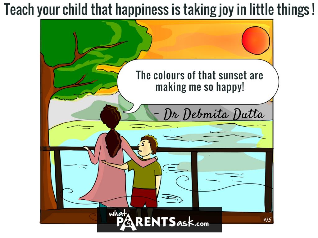 Happiness is taking joy in little things