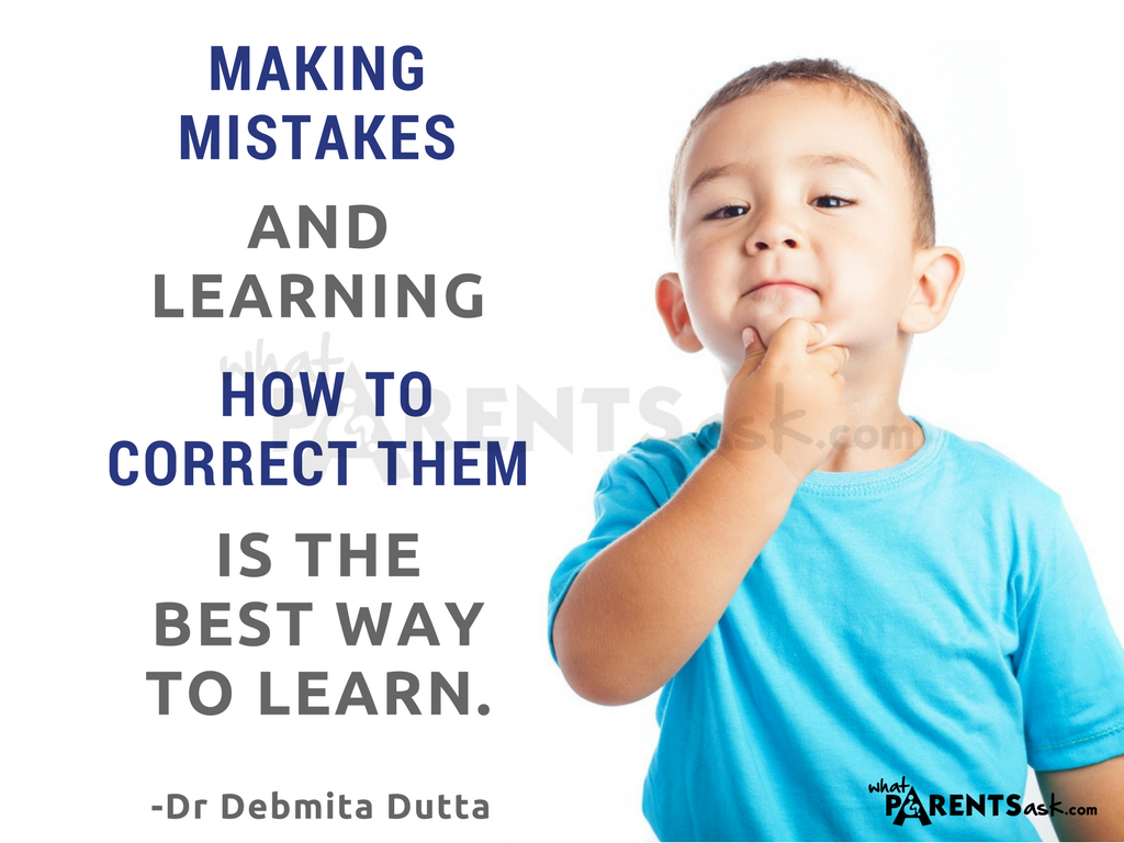 allow your child to make mistakes